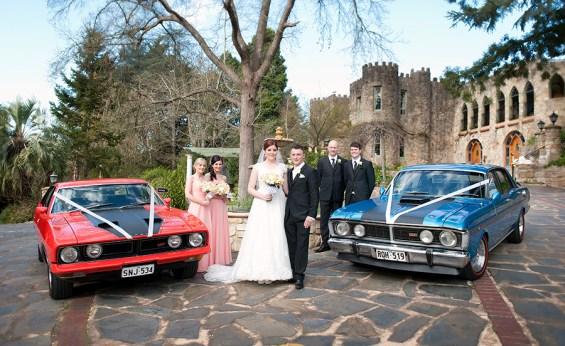 Bridal Motorcade at Camelot Castle