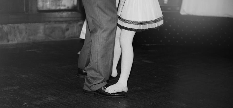 Dancing on daddy's feet
