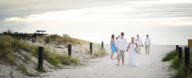 Walking along Grange Beach