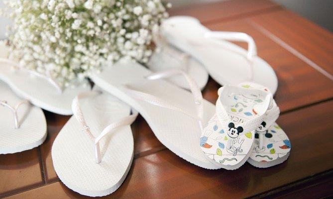 Wedding shoes thongs