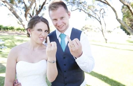 Rude Bride and Groom