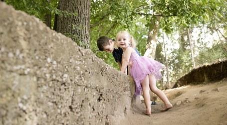 Children playing in Mitcham Reserve
