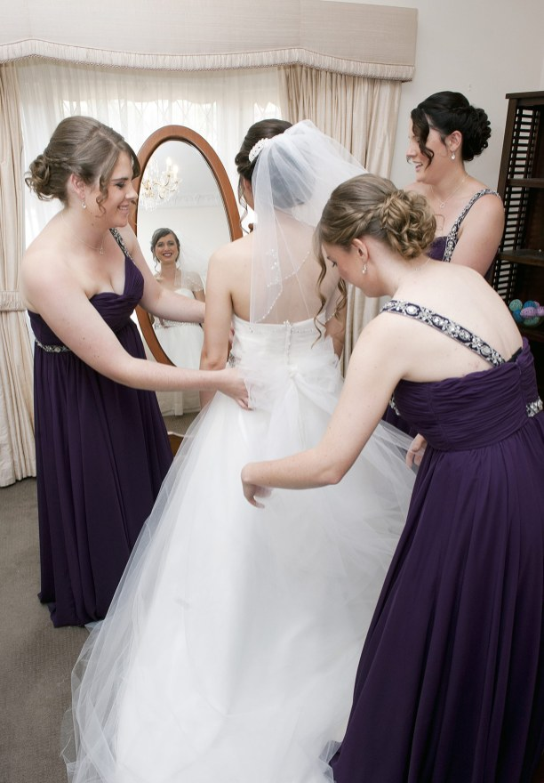 Bridal Party helping