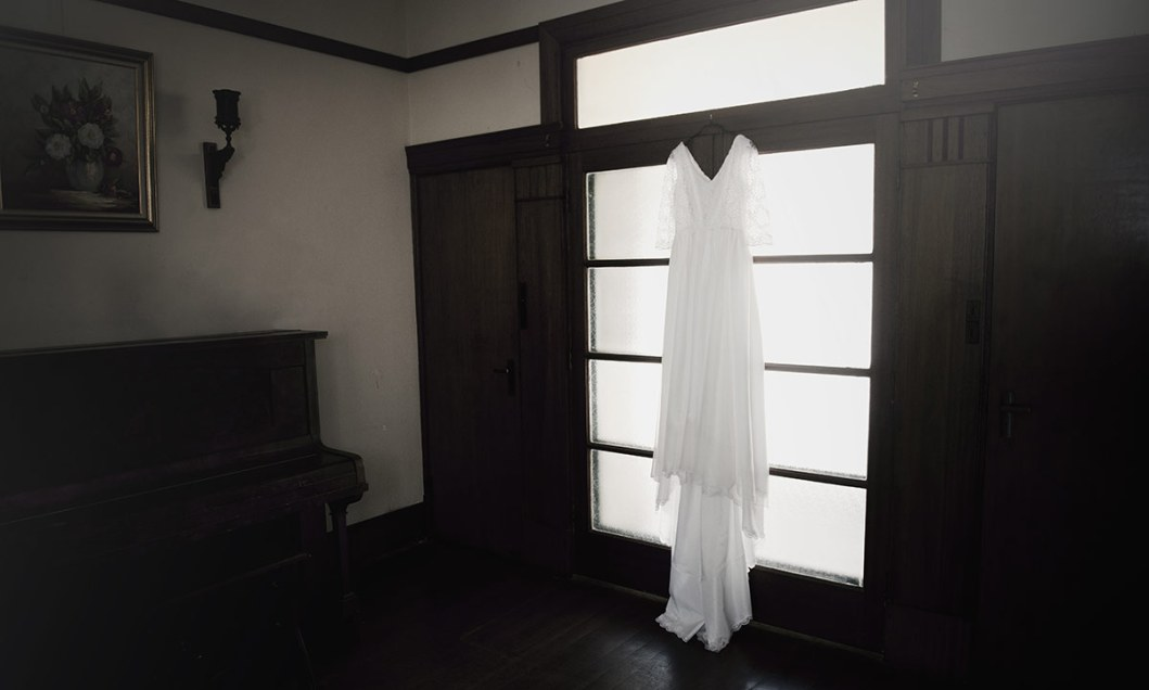 Wedding dress at stangate house
