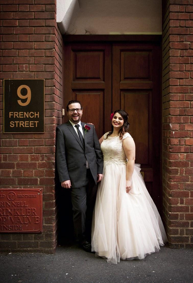 French Street wedding