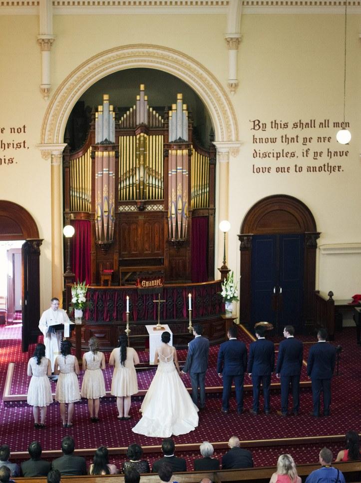 Brougham Place Uniting Church wedding