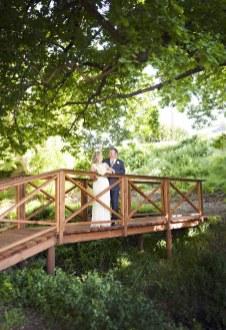 Wooden bridge wedding