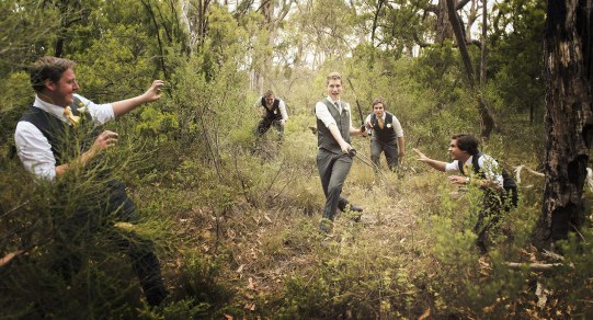 Groom going postal on groomsmen