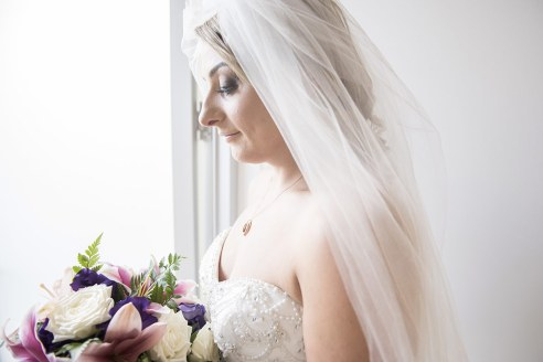 Bride in doorway