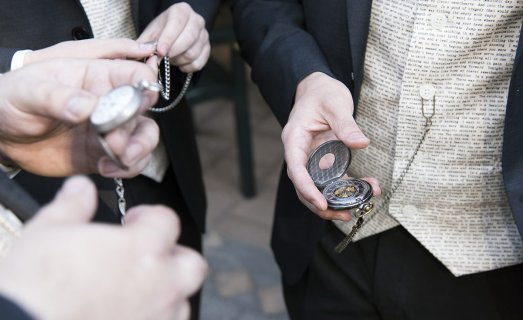 Checking pocket watches