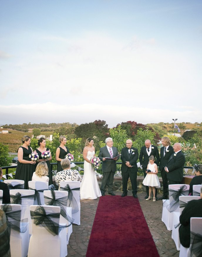 Maxwell winery wedding ceremony