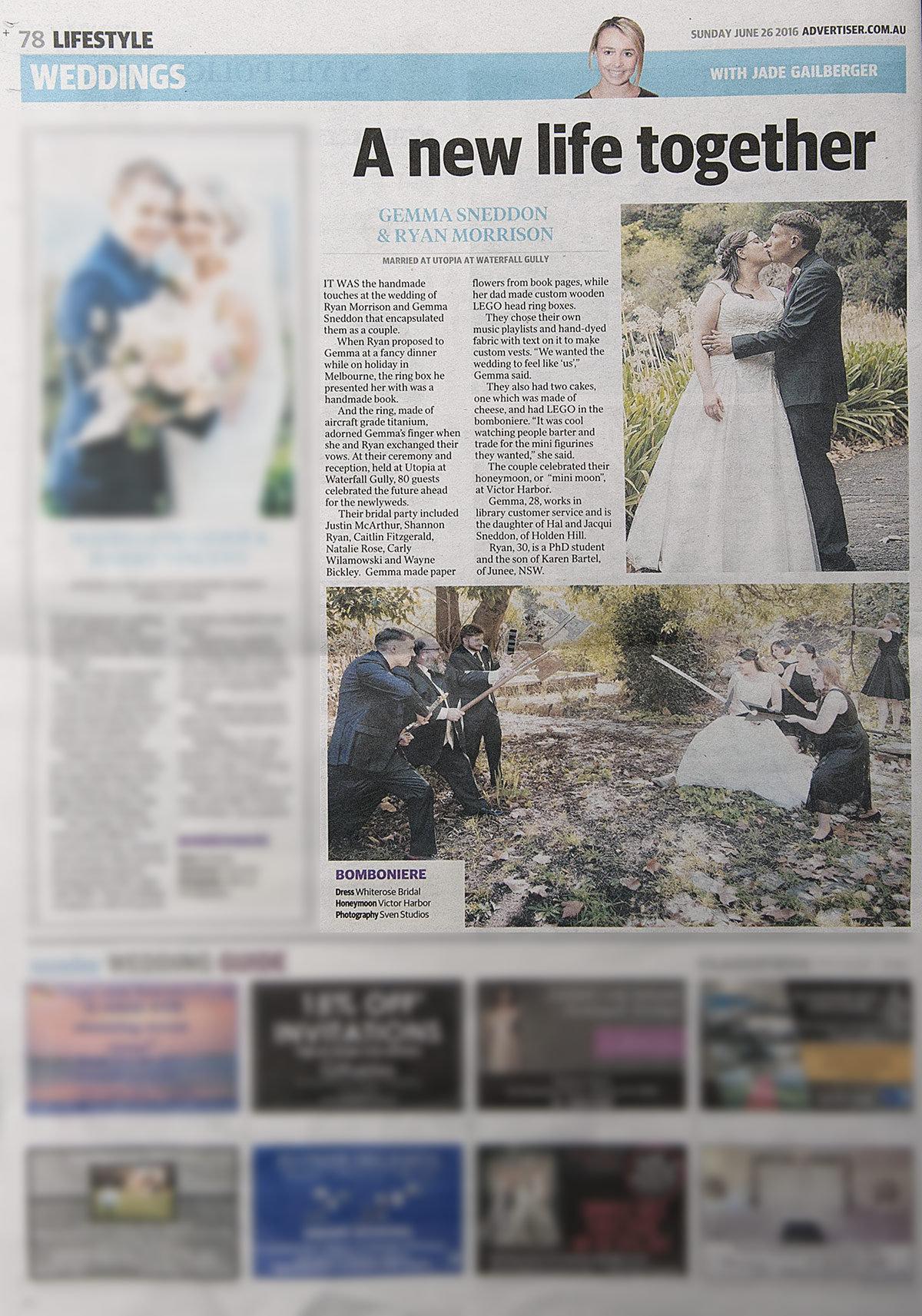 Sunday Mail SvenStudios wedding