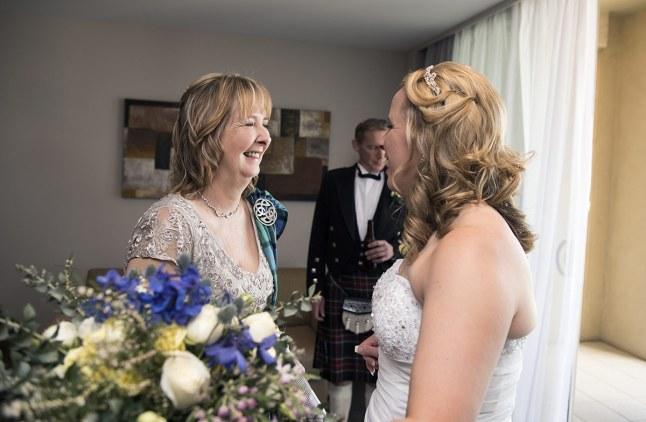 Bride and Mum smiling