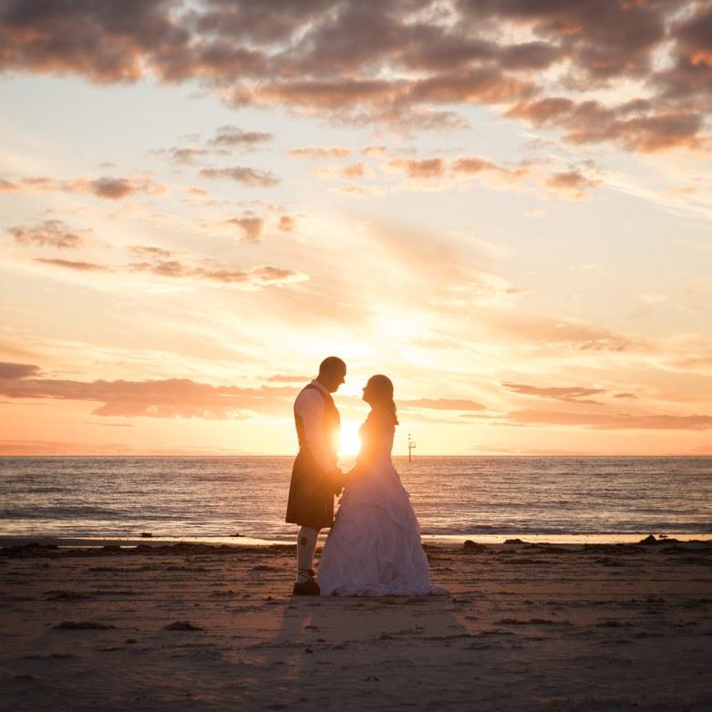 Glenelg wedding sunset