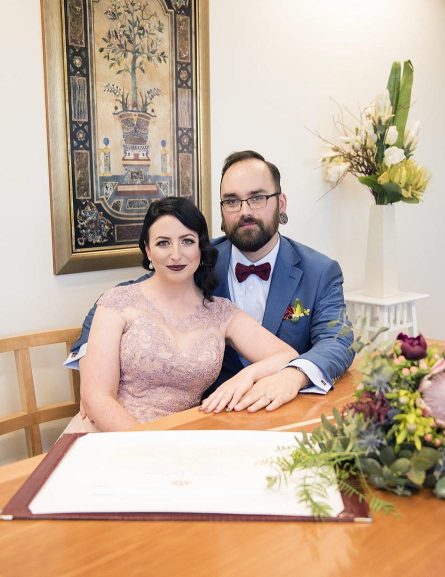 Signing wedding registry