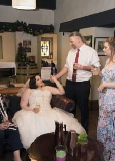 Bride and Groom at Bridgewater Inn
