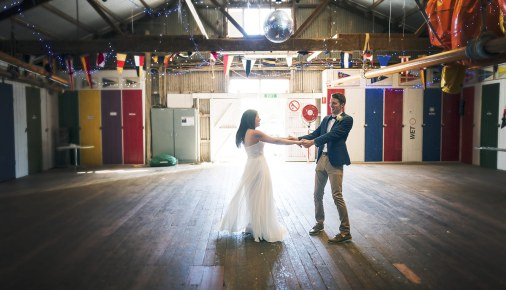 Dancing in the boathouse