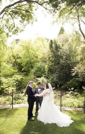 Wedding in the crafers cottages garden