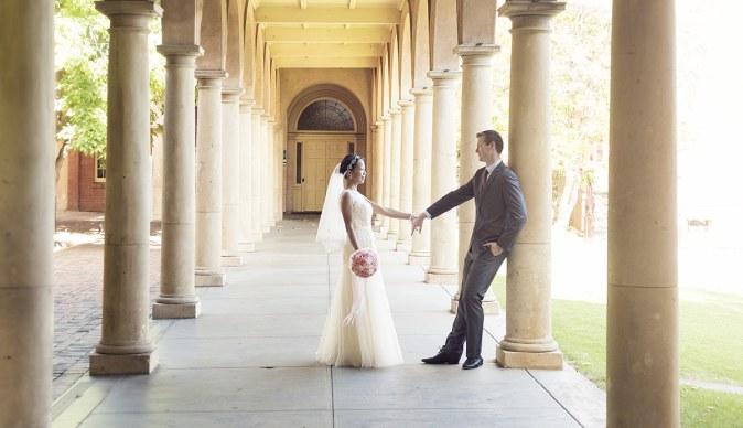 In the walkways of Adelaide University
