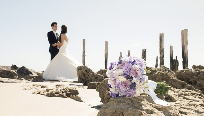 Bouquet in foreground