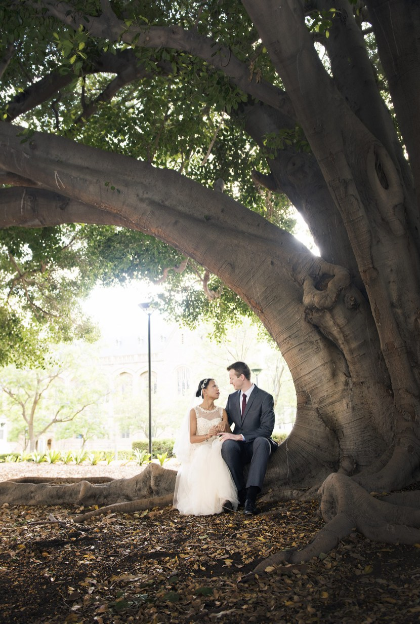 Under a tree on North Terrace