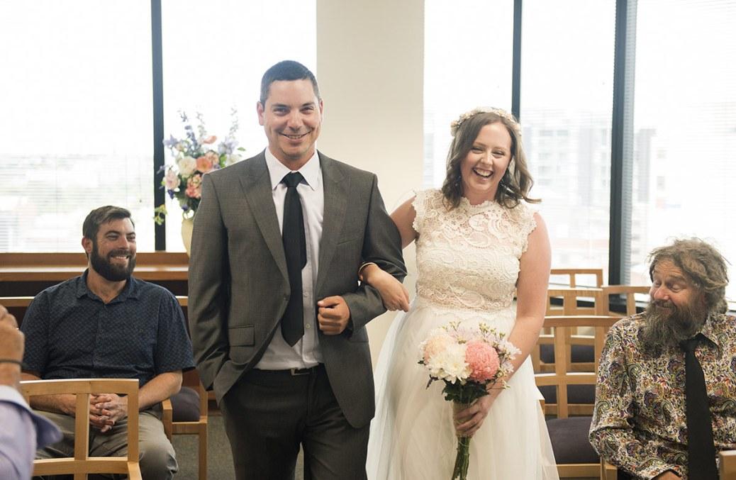 Registry office wedding