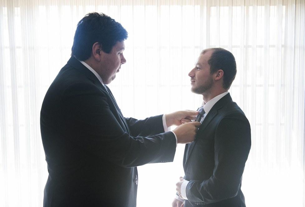 Putting on ties