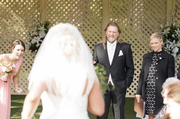Grinning groom