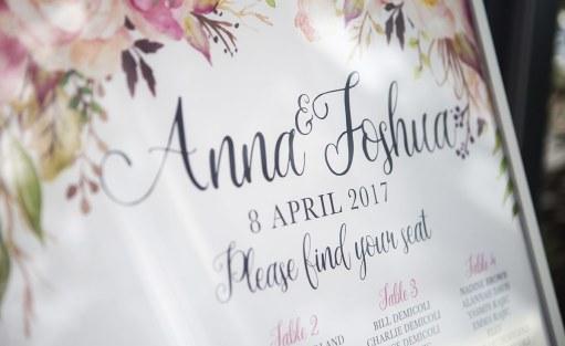 Anna and Josh sign