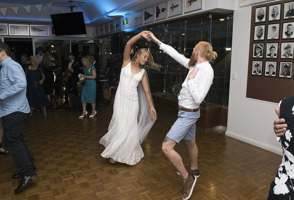 Bride dancing with brother