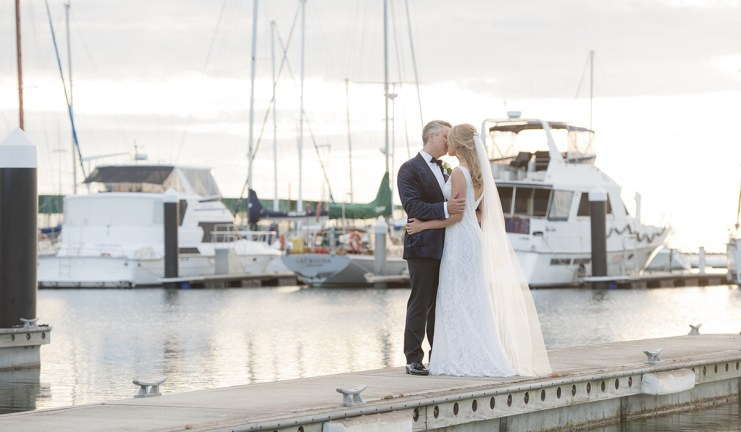 Kissing in the marina