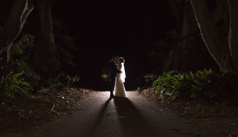 Light Painting wedding photo