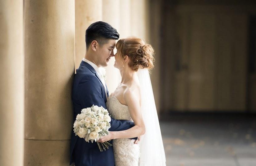 Bride and Groom in Adelaide University