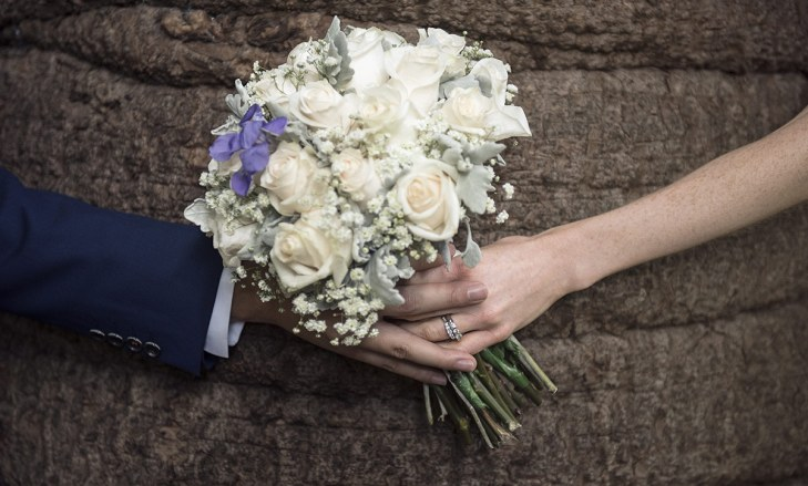 Holding the bouquet together
