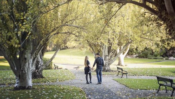 Walking through Veal Gardens
