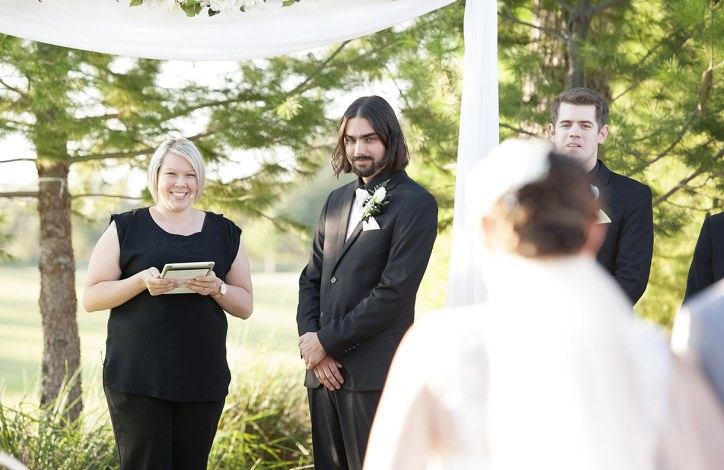 Grooms first sight of bride