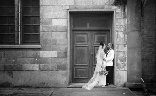 Together in a doorway