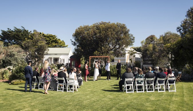 Middleton Beach Huts Wedding