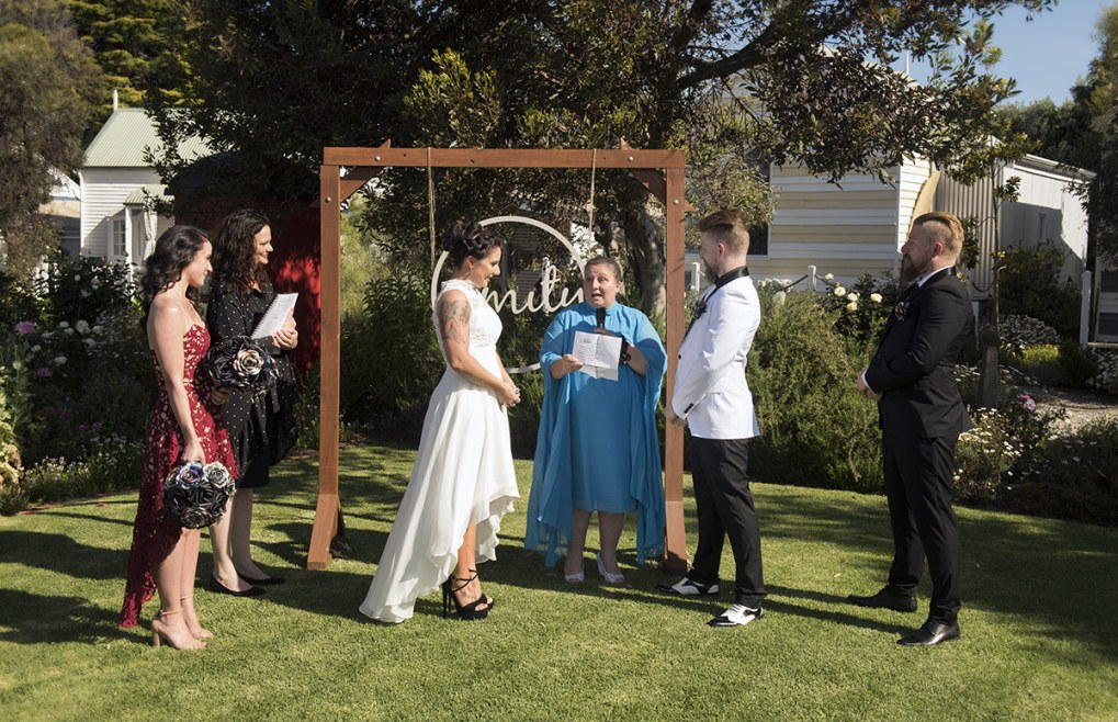 Wedding Ceremony at the Middleton Beach Huts