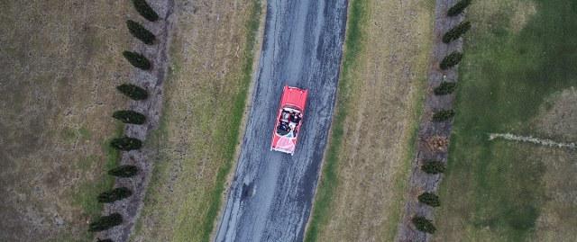 Aerial of car
