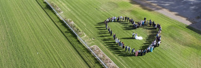 Drone love heart