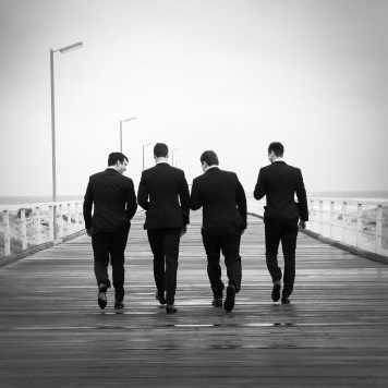 Boys walking together