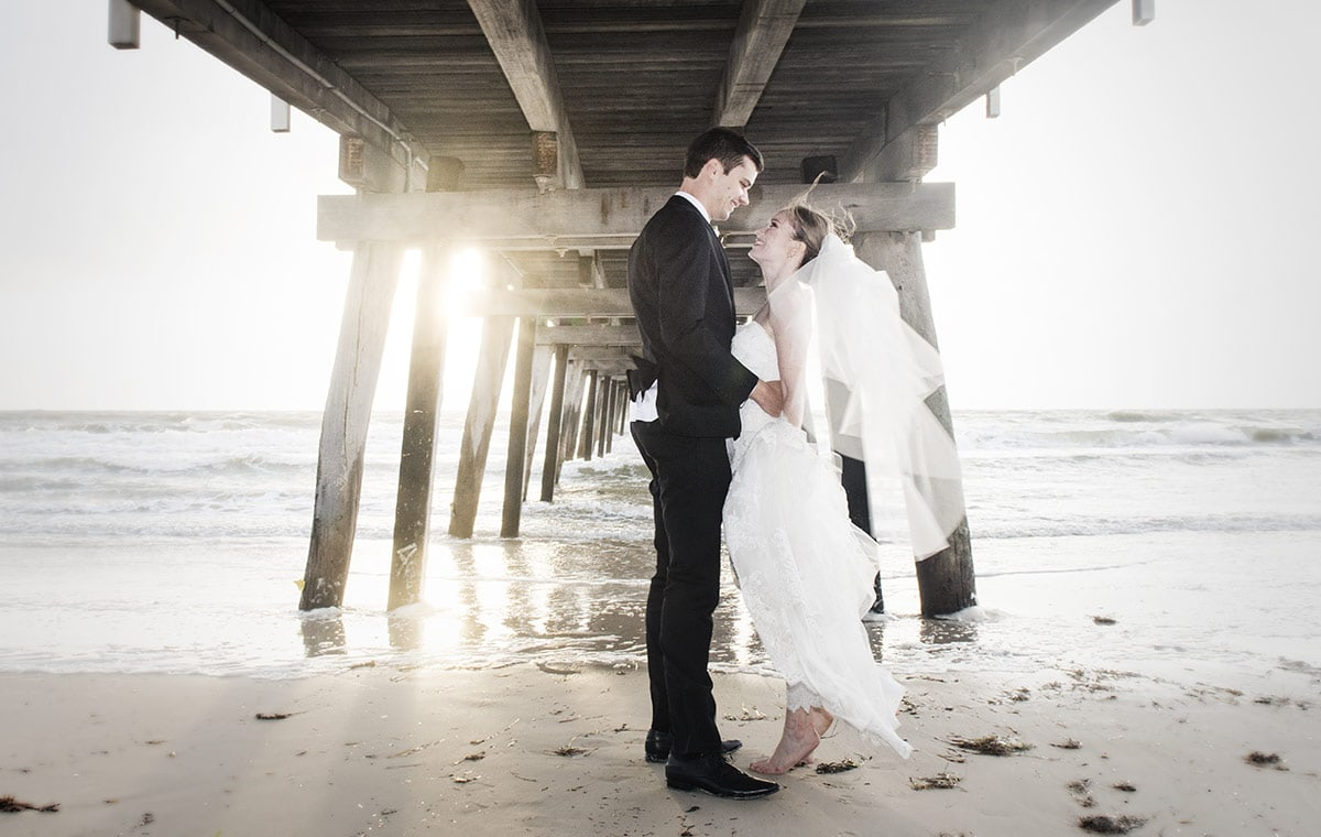 Under the jetty