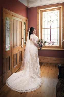 Bride at front door