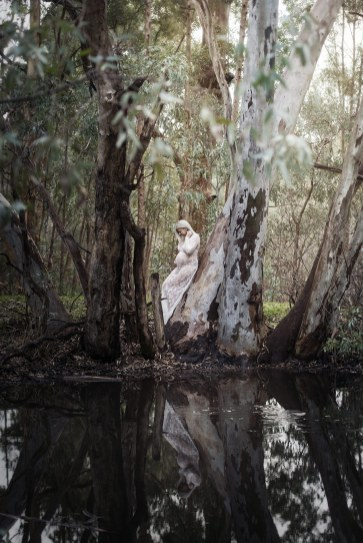 Over a pond