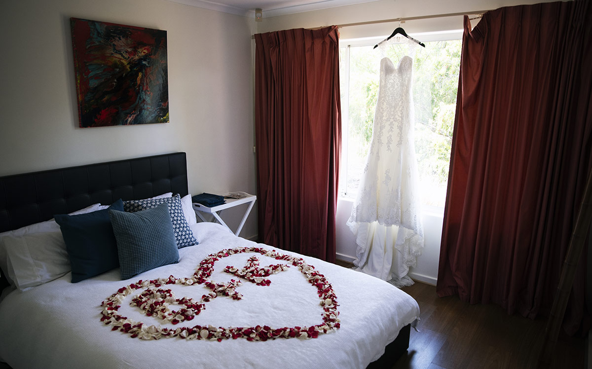 Bed love heart