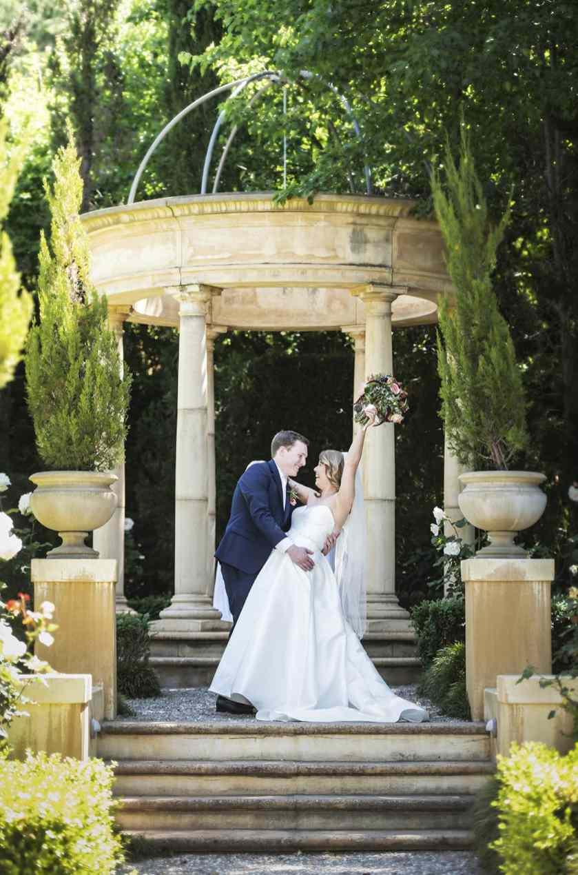 Celebrating bride