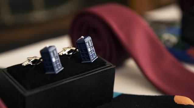 Tardis cufflinks