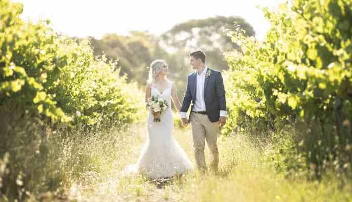 Walking amongst the Ekhidna Winery vines