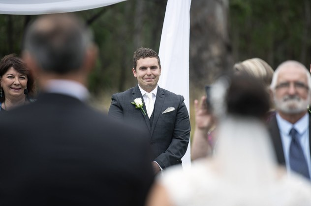 Groom's first look